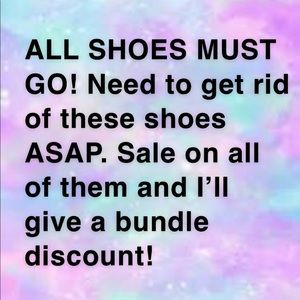Shoes - All my shoes must go!